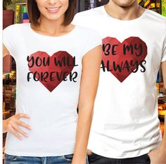 bd6c8704aa Couple matching t-shirt You Will Forever Be My Always by VivaMake Matching  Christmas Outfits