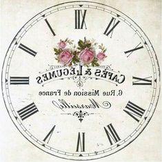 "Photo from album ""Циферблаты"" on Yandex. Clock Printable, Printable Labels, Printable Designs, Decoupage Vintage, Vintage Paper, Vintage Clocks, Decoupage Box, Images Noêl Vintages, Vintage Images"