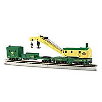 HO Scale Steam Crane And Boom Tender