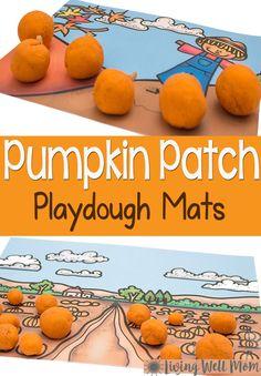 Read More About Pumpkin Scene Playdough Mats Free Printables - Living Well Mom
