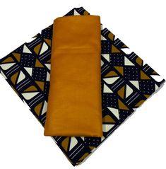 Wax Bogolan Mélangé avec un tissus Marron Conkers, Fabrics