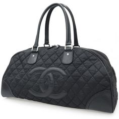 1,200.00$  Buy now - http://vizgh.justgood.pw/vig/item.php?t=5bxxqqy51296 - CHANEL Paris NY Boston Bag A33106 Black Nylon Quilted CC Logo Authentic 3815953