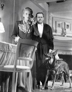 "Edward Arnold, Ann Harding in ""Eyes in the Night"" (1942) Director: Fred Zinnemann."