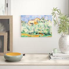 Poster The Farm of Bellevue von Paul Cézanne, Kunstdruck