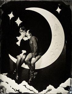 photobooth SF tintype portrait. A fun idea for engagement photos!?