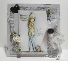 Hello everyone, It's my turn today to share with you some inspiration for Noor! Design U. It's summer time but I chose again . Holiday Cards, Christmas Cards, Whimsy Stamps, Animal Cards, Distress Ink, Little Darlings, Coffee Break, Hello Everyone, Summer Time