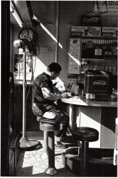 Diner, 14th Street, New York - 1952.  Louis Stettner.
