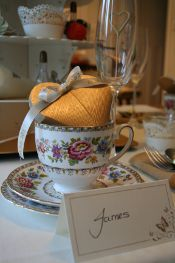 Vintage themed wedding favours