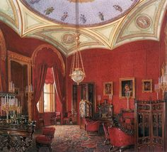The Suite of Empress Alexandra Feodorovna at the Winter Palace in Saint Petersburg