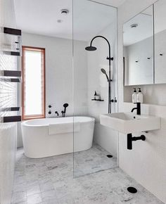 Browse photos of Small Master Bathroom Tile Design. Find tips and inspiration for Small Bathroom Tile Design to enhance your own home. Bathroom Sink Decor, White Bathroom Cabinets, Bathroom Goals, Bathroom Styling, Small Bathroom, Master Bathroom, White Bathrooms, Bathroom Plants, Bathroom Organization