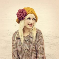 Amber Rose Large Slouchy Hat MADE TO ORDER by mojospastyle on Etsy, $45.00