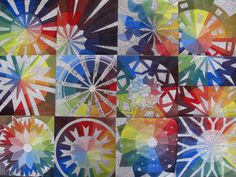 Art At Woodstock: Design: Color Wheel. Radial design, values mixed, hue and color group written in the negative space. Teaching Colors, Teaching Art, Color Wheel Projects, Classe D'art, Paint Paint, High School Art Projects, 6th Grade Art, Mandalas Drawing, Ecole Art
