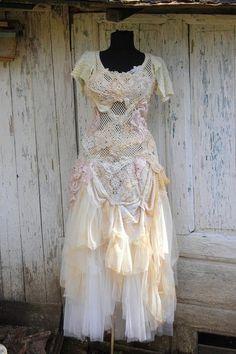 Dresswedding doilies dressfairy  mori girl bridal lace