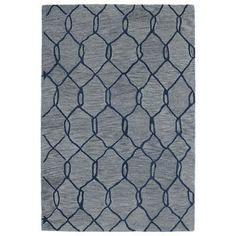 "Varick Gallery Zack Blue Geometric Rug Rug Size: Runner 2'6"" x 8' #GeometricRugs"