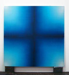 "ivotemelkov: "" Eric Freeman - Indigo Cross, oil on linen, 108 x 108 inches "" Modern Art, Contemporary Art, Artist Life, Surface Design, Great Artists, My House, Indigo, Street Art, Abstract Art"