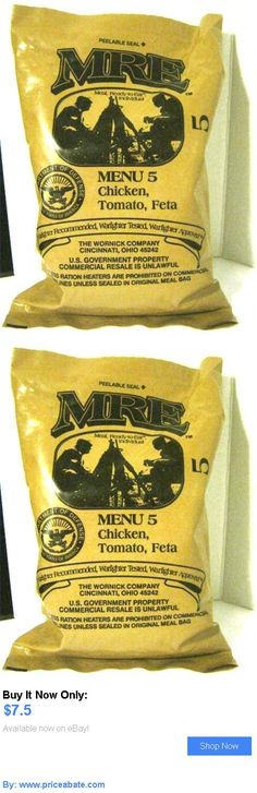 Food And Drink: Mre Menu 5 Chicken, Tomato, Feta (Meal, Ready-To-Eat, Individual) Sealed BUY IT NOW ONLY: $7.5 #priceabateFoodAndDrink OR #priceabate