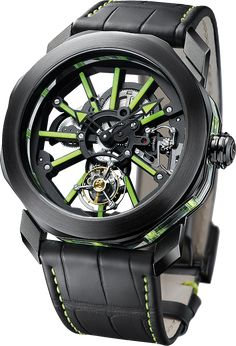 Bulgari Octo Tourbillon Sapphire watch - angleview - Perpetuelle Dream Watches, Cool Watches, Skeleton Watches, Luxury Watches For Men, Beautiful Watches, Mechanical Watch, Bvlgari, Men's Accessories, Fashion Watches