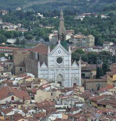 Firenze, chiesa di Santa Croce e Cappella dei Pazzi, vista dal campanile di Giotto.
