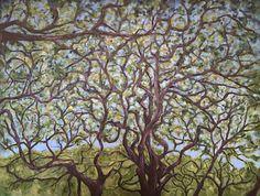 Hawaii Waimea Botanical Garden Trees Oil Painting by Sue Killingsworth North Shore Oahu Hawaii Nature Landscape Painting Tree Painting by SueKillingsworthArt on Etsy