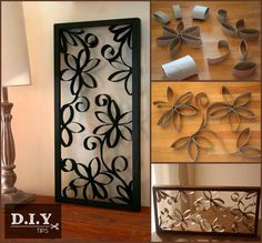 #DIYTips - It's not every day that you find a clever way to reuse something from the bathroom, upcycle old paper rolls & spruce up your walls smile emoticon Materials: Paper rolls,Scissors,White glue,paint(as per your choice). Steps: 1. Crush paper roll. Place the rolls on a flat surface. 2. Create a desired pattern.Try different compositions & patterns. 3. Glue where rolls are touching.Expend the pattern in to an organic cell growth,you may paint and add sparkles & you are done!