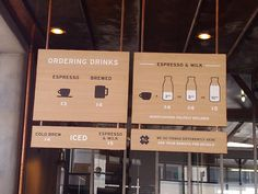 Handsome Coffee Roasters iconographic menu boards