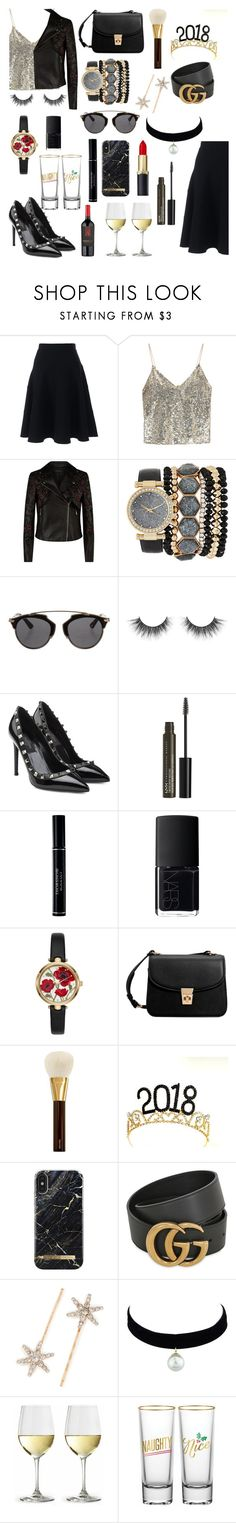 """New Year Party"" by mvarun74 ❤ liked on Polyvore featuring Lands' End, Alice + Olivia, Elie Saab, Jessica Carlyle, Christian Dior, Valentino, NYX, NARS Cosmetics, Kate Spade and MANGO"