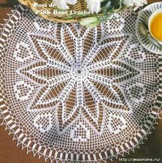 Hobby lavori femminili - ricamo - uncinetto - maglia: centrino tondo uncinetto