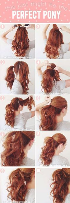 How-To Curly Ponytail Hairstyle