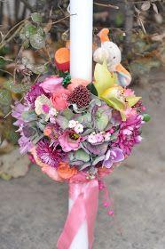 Maya Flowers: Lumanare botez fetita Maya, Table Decorations, Flowers, Florals, Maya Civilization, Flower, Bloemen
