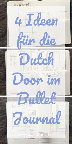 4 Ideen für deine Dutch Door im Bullet Journal