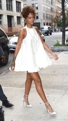 Summer Outfit Ideas How To Wear A Lwd Aka Little White Dress Like Rihanna
