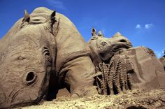 Rhinos at The Annual Weston-super-Mare Sand Sculpture Festival…