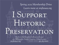 Show your support for historic preservation -- and our spring membership drive!