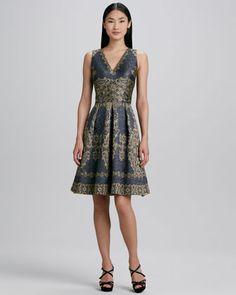 Great! Do you want sleeves? Sleeveless Printed Cocktail Dress by David Meister Signature at Neiman Marcus.