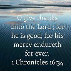 I chron 16:34