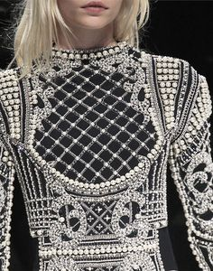 Pearl & crystal hand applied details  ZsaZsa Bellagio: commes des garcons