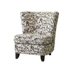 Accent Chair - Cream/Brown
