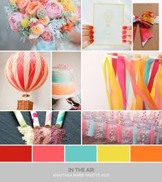 "color inspiration: what an ""inspiration board"" looks like (for inspiration... hate the colors)"