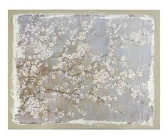 Tableau bois et lin, gris - 152*122