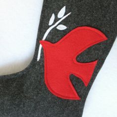 Dove of Peace Christmas Stocking  Eco Friendly by stitcholicious, $17.00