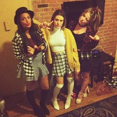 Grab your girls and FBF on Halloween with this Clueless costume Schnappen Sie sich Ihre Mädch. Diy 90s Halloween Costume, Pop Culture Halloween Costume, Couple Halloween, Cool Costumes, Costume Ideas, Halloween 2017, Costumes Kids, Woman Costumes, Pirate Costumes