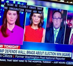 Anchors @cnn trying to keep it together reporting on #president #puny #again #laughing #laughs #news #cantmakethisup