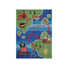 Momeni Lil Mo Whimsy Treasure Map Rug, Multicolor, Durable