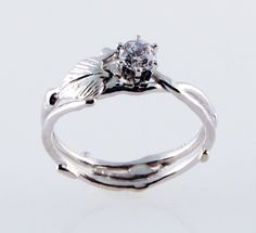 Simply Diamond Eco-Engagement Ring - in 14K white gold. $725.00
