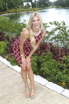 Loving this dress. Adorable for all football games. #maroon #gameday http://www.sidelinesass.com/collections/new-items/products/gridiron-girl-dress