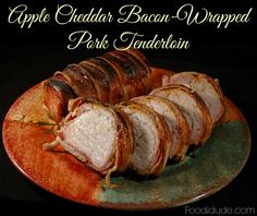 This Apple Cheddar Bacon-wrapped Pork Tenderloin is #realflavorrealfast #checkouttheblog for the recipe! #CollectiveBias #ad #ontheblog #foodidude