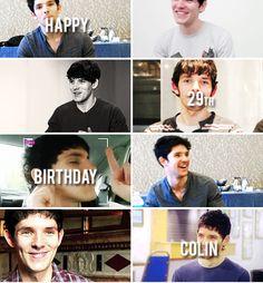 Happy birthday Colin Morgan!!! January 1st