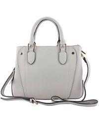 MuLier Soft Full Grain Genuine Leather Womens Totes Handbag White
