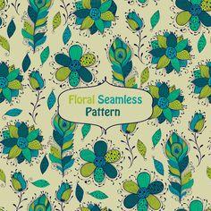 Vector seamless floral  Pattern by alexmakarova on Creative Market