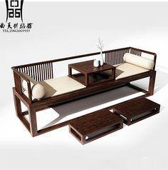 新中式沙发现代简约沙发中式实木客厅样板房沙发中式会所家具-淘宝网